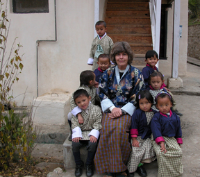 susan with children
