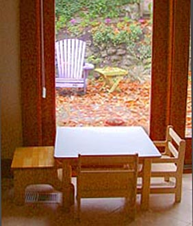 First table and chairs
