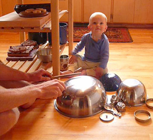 kitchen drum lesson