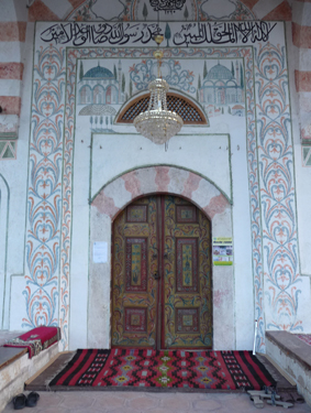 The door to the mosque