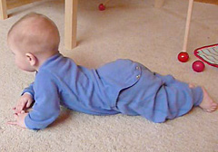 """creeping"" to learn to crawl"
